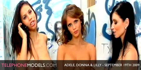 TelephoneModels.com Adele Donna Duke Lilly Roma Bangbabes September 19th 2009 Adele, Donna Duke & Lilly Roma   Bangbabes   September 19th 2009