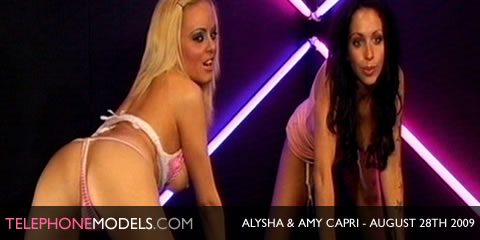 TelephoneModels.com Alysha Amy Capri Babeworld August 28th 2009 Alysha & Amy Capri   Babeworld   August 28th 2009