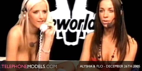 TelephoneModels.com Alysha Flo Babeworld December 26th 2005 Alysha & Flo   Babeworld   December 26th 2005