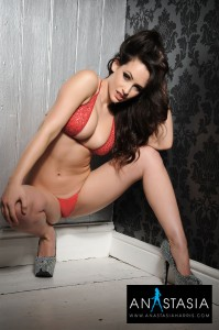 TelephoneModels.com Anastasia Harris March 31st 2011 6 199x300 Anastasia Harris Red Lingerie Shoot