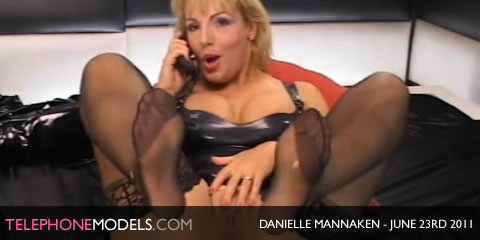 TelephoneModels.com Danielle Mannaken Sex Station June 23rd 2011 Danielle Mannaken   Sex Station   June 23rd 2011