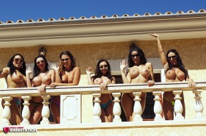 TelephoneModels.com Babestation Girls Group August 30th 2011 1 300x199 Babestation Girls Balcony Group Shoot