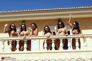 TelephoneModels.com Babestation Girls Group August 30th 2011 2 300x199 Babestation Girls Balcony Group Shoot
