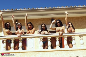 TelephoneModels.com Babestation Girls Group August 30th 2011 3 300x199 Babestation Girls Balcony Group Shoot
