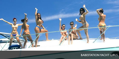 TelephoneModels.com Babestation Girls Yacht Shoot Babestation Yacht Girls