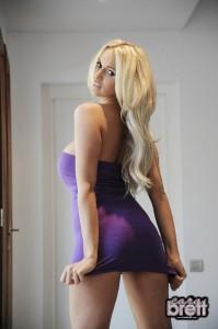 TelephoneModels.com Cara Brett Photoshoot 4 3 199x300 Cara Brett Purple Dress Strip