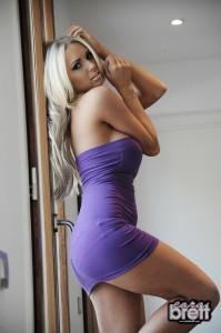 TelephoneModels.com Cara Brett Photoshoot 4 4 199x300 Cara Brett Purple Dress Strip