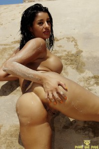 TelephoneModels.com Priya Young Naked Rocks Photoshoot 1 199x300 Priya Young Naked On The Rocks