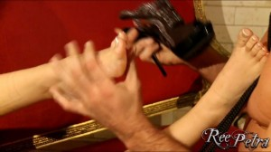 TelephoneModels.com Ree Petra Foot Fetish Video 02 300x168 Ree Petra Foot Fetish and Bondage Video