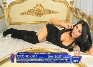 TelephoneModels.com Danni Summers Bluebird TV January 8th 2012 10 300x217 Danielle Summers   Bluebird TV   January 8th 2012