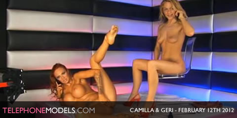 TelephoneModels.com Camilla Jayne Geri Babestation February 12th 2012 Camilla Jayne & Geri   Babestation   February 12th 2012