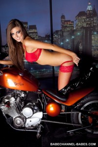 TelephoneModels.com Cara Steel Babe Channel Babes 4 1 200x300 Cara Steel Biker Chick Strip Shoot