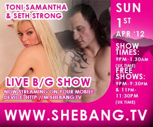 toni samantha shebang hardcore 300x250 Coming Sunday: Toni Samantha Hardcore Boy/Girl Live Show on Shebang TV
