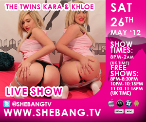 kara khloe 300x250 Kara & Khloe   The Twins   Shebang Live Show Tonight