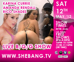 karina currie amanda rendall 300x250 Karina Currie, Amanda Rendall & Rico Shades Shebang Live Hardcore Boy/Girl/Girl Show Tonight