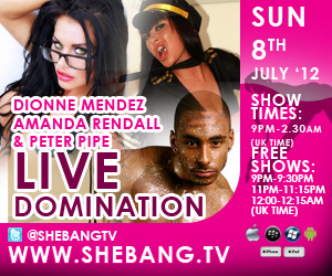 dionne mendez 300x250 Dionne Mendez, Amanda Rendall & Peter Pipe Shebang Boy/Girl/Girl Live Show Tonight