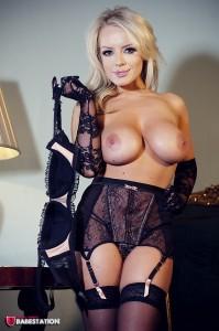 TelephoneModels.com Hannah Claydon Babestation November 9th 2012 11 199x300 Hannah Claydon Topless Strip PhotoShoot