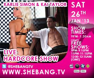 Karlie Kai 300x250 Karlie Simon & Kai Taylor Shebang TV Hardcore Boy/Girl Live Show Tonight