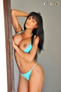 TelephoneModels.com Fernanda Ferrari Studio 66 TV 08 6 200x300 Fernanda Ferrari Azure Bikini Strip Shoot