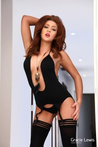 TelephoneModels.com Gracie Lewis 7 2 200x300 Gracie Lewis Black Bodysuit & Stockings