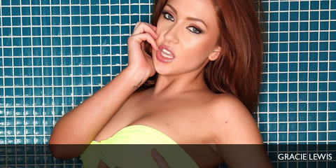TelephoneModels.com Gracie Lewis 9 Gracie Lewis Yellow Bikini Shower Pictures