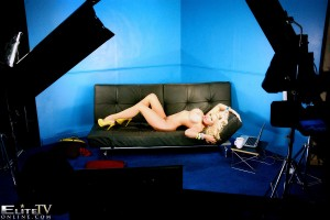 TelephoneModels.com Michelle Thorne Studio 66 TV 01 7 300x200 Michelle Thorne Black Couch Strip Shoot
