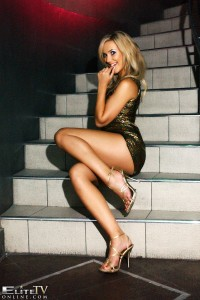 TelephoneModels.com Sophia Knight Studio 66 TV 02 2 200x300 Sophia Knight On The Stairs Velvet Dress Strip Shoot