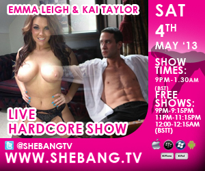 300x2501 Emma Leigh & Kai Taylor Shebang TV Hardcore Boy/Girl Live Show Tonight