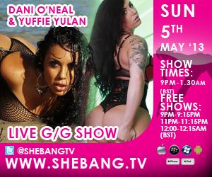 300x2502 Dani ONeal & Yuffie Yulan Shebang TV Hardcore Girl/Girl Live Show Tonight