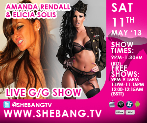 300x2503 Amanda Rendall & Elicia Solis Shebang TV Hardcore Girl/Girl Live Show Tonight