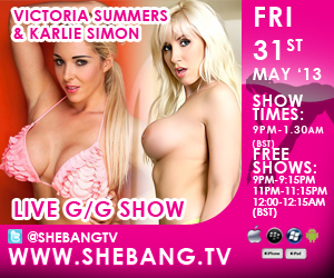 300x2509 Karlie Simon & Victoria Summers Shebang TV Hardcore Girl/Girl Live Show Tonight