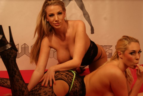 TelephoneModels.com Danielle Maye Victoria Summers Shebang TV April 25th 2013 6 480x321 Danielle Maye & Victoria Summers Shebang TV Hardcore Girl/Girl Live Show