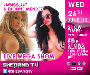 300x25010 This Wednesday: Jemma Jey & Dionne Mendez On Shebang TV In Hardcore Action