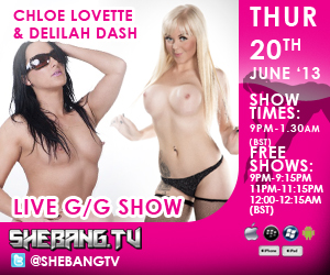 300x2509 Chloe Lovette & Delilah Dash Shebang TV Hardcore Girl/Girl Live Show Tonight