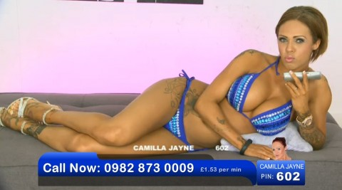 TelephoneModels.com 02 06 2013 21 09 44 480x267 Camilla Jayne   Bluebird TV   June 3rd 2013