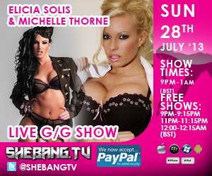 300x2505 Michelle Thorne & Elicia Solis Shebang TV Hardcore Girl/Girl Live Show