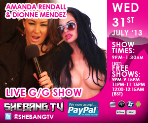 300x2506 Amanda Rendall & Dionne Mendez Shebang TV Hardcore Girl/Girl Live Show Tonight