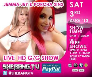 300x2501 Jemma Jey & Porcha Sins Shebang TV Hardcore Girl/Girl Live Show Tonight