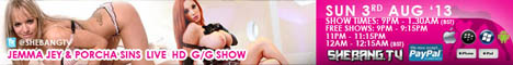 468x601 Jemma Jey & Porcha Sins Shebang TV Hardcore Girl/Girl Live Show Tonight