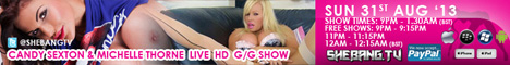 468x607 Candy Sexton & Michelle Thorne Shebang TV Live Hardcore Girl/Girl Show Tonight