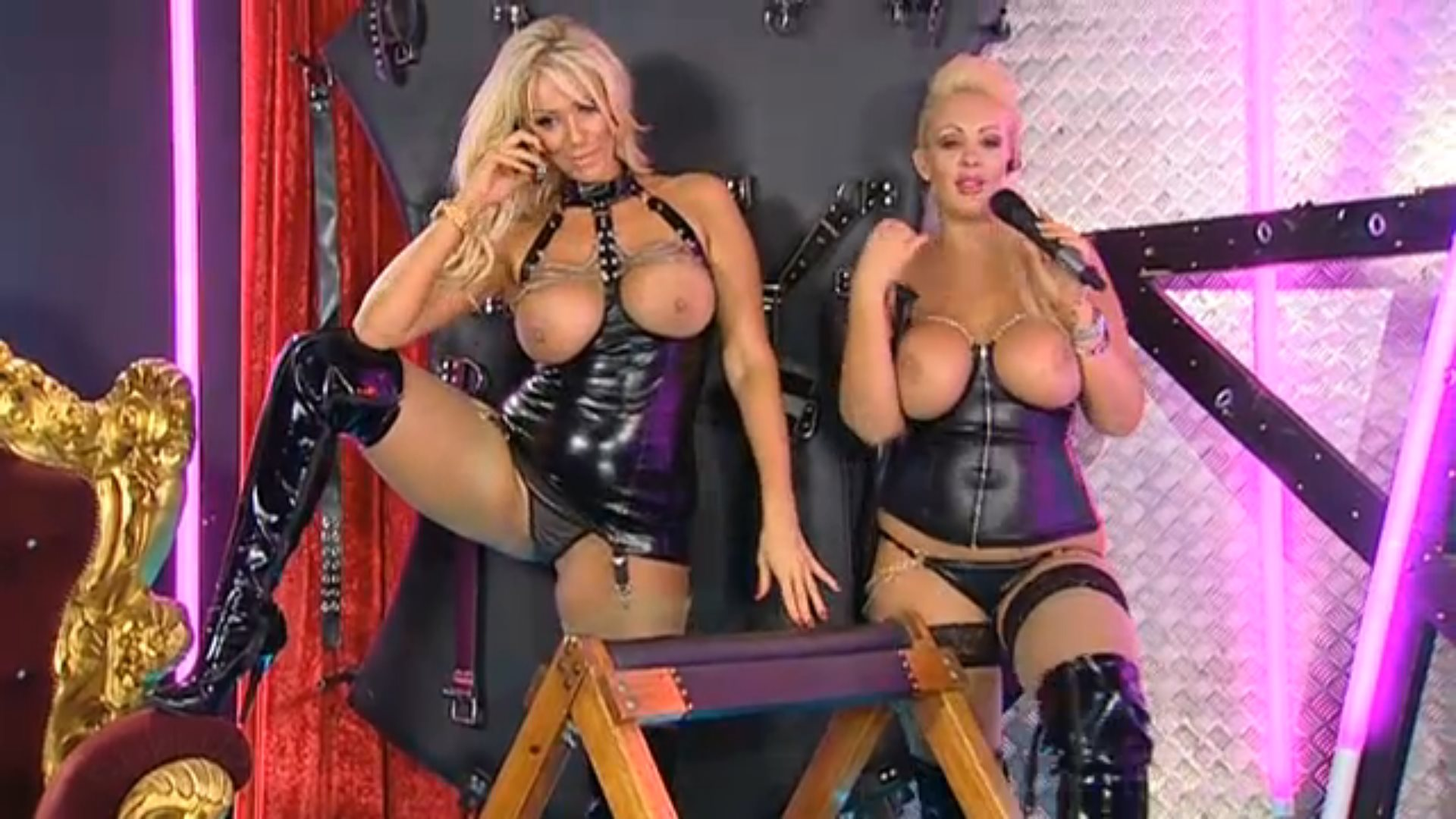 Dannii Harwood Lucy Zara Stunning lucy zara & levi domination show on playboy tv chat