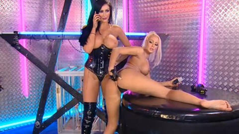 TelephoneModels.com 28 09 2013 02 08 42 480x270 Lucy Summers & Yasmine James   Playboy TV Chat   September 28th 2013