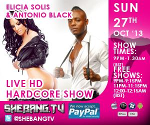 300x25015 Elicia Solis & Antonio Black Shebang TV Live Hardcore Boy/Girl Show Tonight