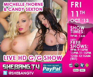 300x2504 Michelle Thorne & Candy Sexton Shebang TV Hardcore Live Girl/Girl Show Tonight