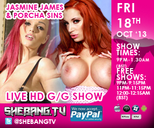 300x2509 Jasmine James & Porcha Sins Shebang TV Hardcore Live Girl/Girl Show Tonight