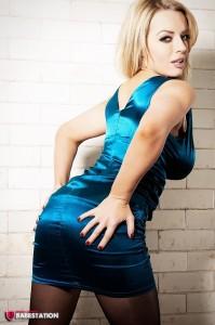 TelephoneModels.com Hannah C Babestation Blue Dress Strip 1 199x300 Hannah C Babestation Blue Dress Strip Shoot