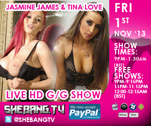 300x250 Jasmine James & Tina Love Shebang TV Hardcore Live Girl/Girl Show Tonight