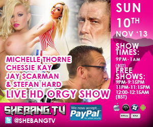 300x2506 Michelle Thorne, Chessie Kay, Jay Scarman & Stefan Shebang TV Live Hardcore Orgy Show Tonight