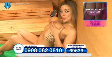 TelephoneModels.com 26 11 2013 23 40 44 480x245 Beth   Babestation TV   November 27th 2013
