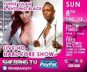 300x2501 Yuffie Yulan & Antonio Black Shebang TV Hardcore Boy/Girl Live Show Tonight